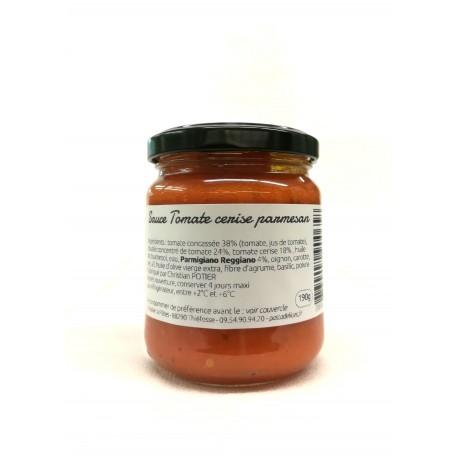 Sauce tomate cerise et parmesan