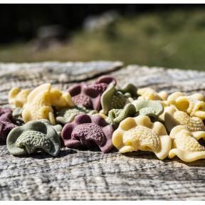 Trio coloré de crêtes de coq - Pâtes sèches